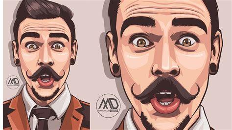 vector portrait psd adobe photoshop cc  speed