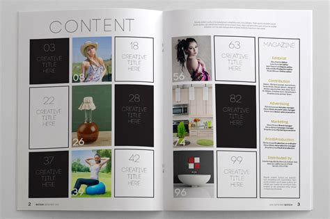 Simply Magazine Template Magazine Templates On Creative Market Free Magazine Layout Templates For Word