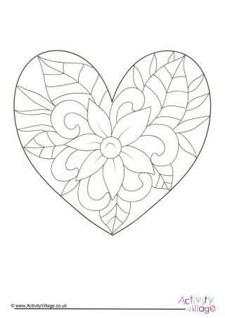 complex heart coloring page valentine s day colouring pages