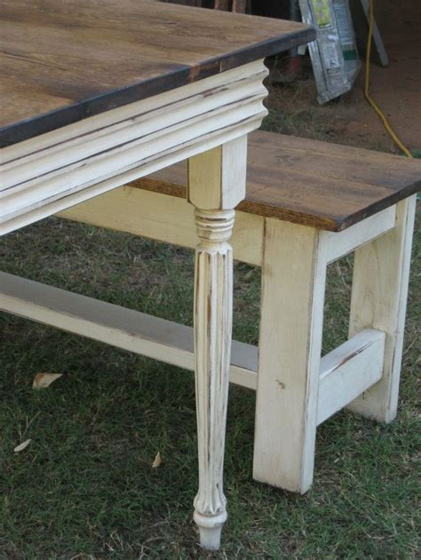 farmhouse table bench farm table with benches edie brummel kitchen ideas