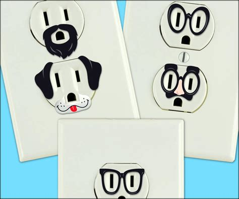 electrical power outlet stickers dudeiwantthat