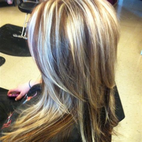 highlighted hair with brown underneath layered pictures 1000 images about hair styles on pinterest blonde hair