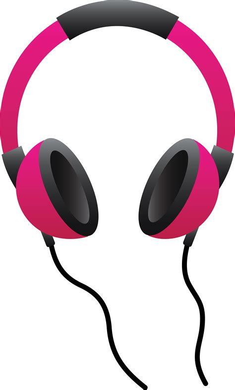 headphones clipart dj speakers listening to notes pictures
