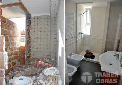 3 banos antes y despues obras foto reforma integral de vivienda por traber obras ba 241 o