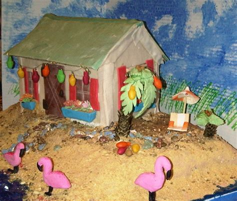 Gingerbread Beach House | 2010 gingerbread house beach cottage gingerbread