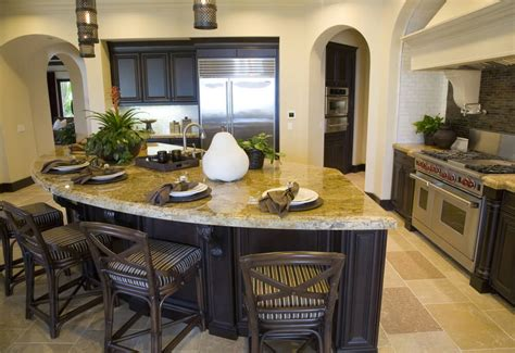 Kitchen Island With Dining Table Attached - 64 deluxe custom kitchen island designs beautiful