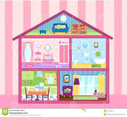 Miniature Dollhouse Kitchen Furniture Girls Doll House Stock Illustration Image 47249651