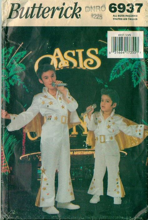 elvis jumpsuit pattern sewing rare butterick elvis jumpsuit costume sewing pattern ebay