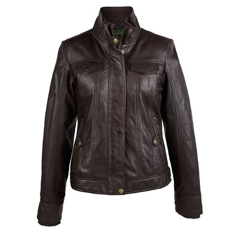 ladies brown leather biker bella ladies brown leather jacket hidepark