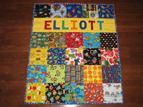 Personalised Baby Quilt by Personalized Baby Quilt I Quilt With By