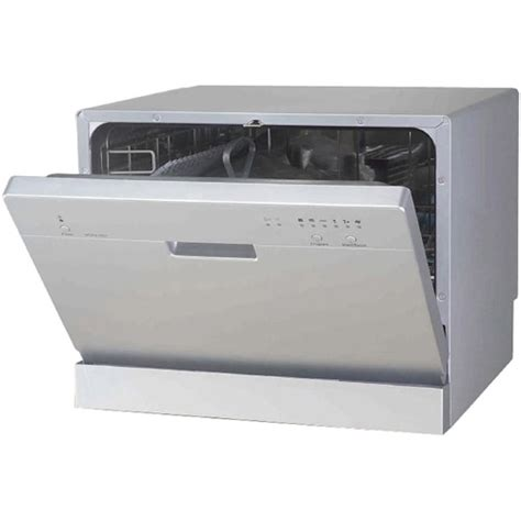 Countertop Dishwasher Cheap by Cheap Spt Countertop Dishwasher In Silver With 6 Wash