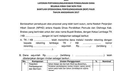 format laporan bop paud 2017 format lpj bop paud terbaru 2017 akses guru