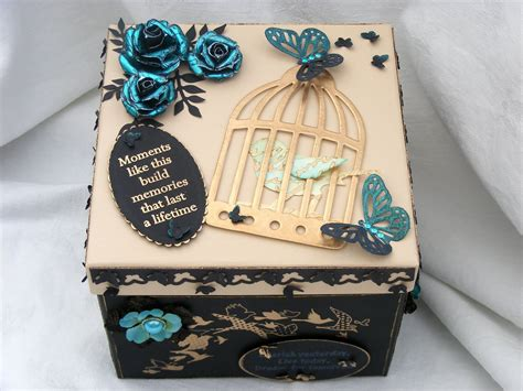 ideas for decorating box crafty n hugs a birthday gift and my 1st challenge