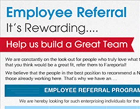 Online Portfolios On Behance Employee Referral Bonus Template