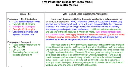 Writing Expository Essay by Expository Essay Sle Academic Guide