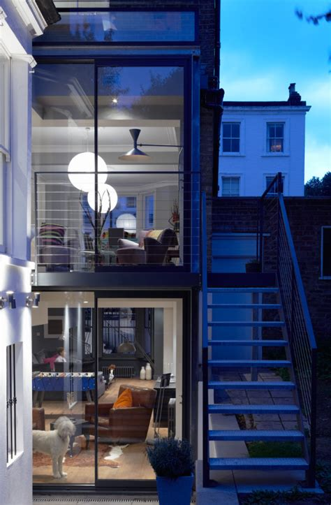 Second Floor Extension Plans modern glass extension on a 5 story london townhouse art