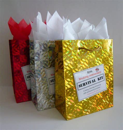 50th wedding anniversary diy gift ideas 50th golden wedding anniversary survival kit novelty gift idea present ebay