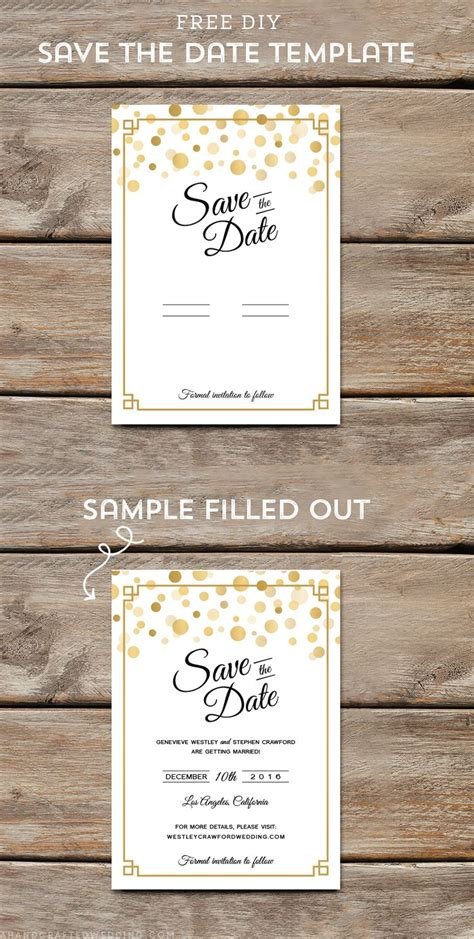 25 Best Ideas About Save The Date Templates On Pinterest Diy Wedding Invitations Templates Save The Date Free Templates