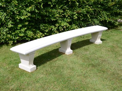 stone curved garden bench the large classic curved stone garden bench