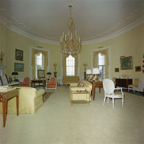 yellow oval room kn c29734 a yellow oval room white house f kennedy presidential library museum