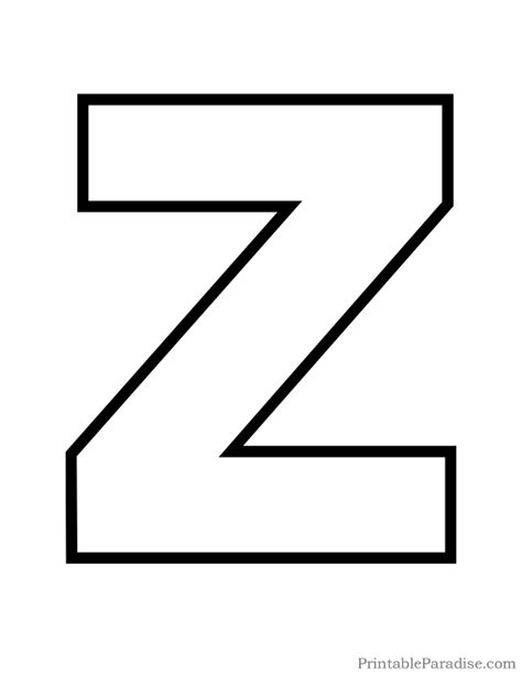 printable letter z outline print bubble letter z