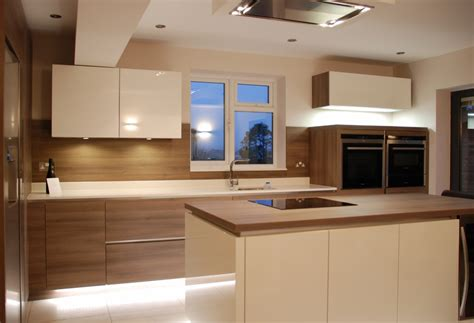 Kitchen Island Designs With Cooktop White High Gloss Kitchen Grey Acacia Panelling In Brighton