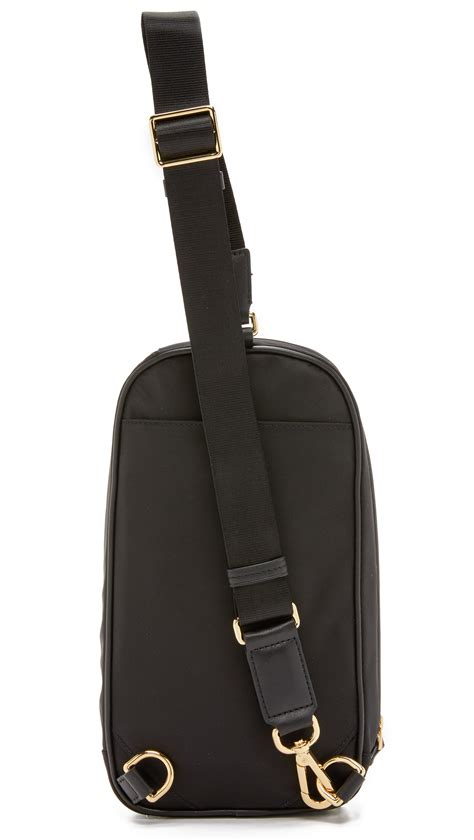 Stradi Black Sling Bag lyst tumi mila small sling bag in black
