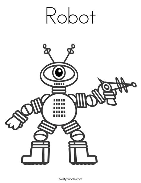 coloring pages for robot robot coloring page twisty noodle
