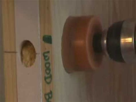changing doorknob size drilling
