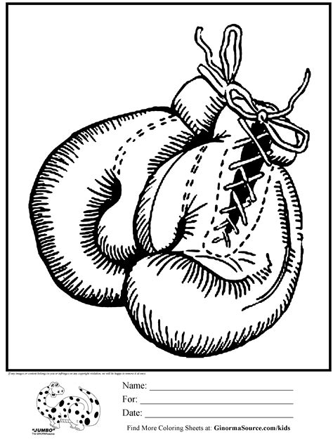 awesome coloring page boxing gloves coloring pages