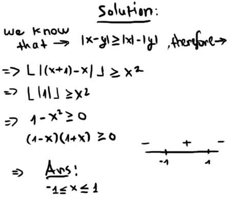 algebra precalculus solve the equation within floor