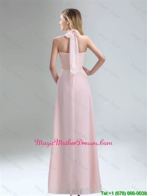 light pink mother of the bride dresses 2016 cheap high neck chiffon light pink mother of the