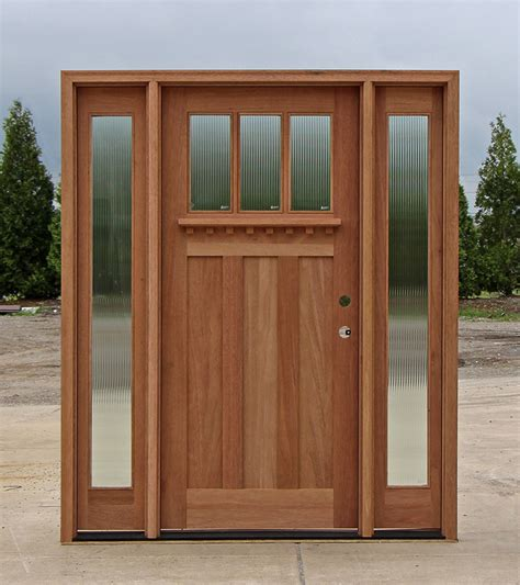 door lites exterior doors craftsman style doors and sidelights