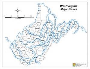 Map Of Virginia Rivers by Map Of West Virginia Rivers