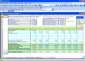 npv analysis template npv review ccim institute excel