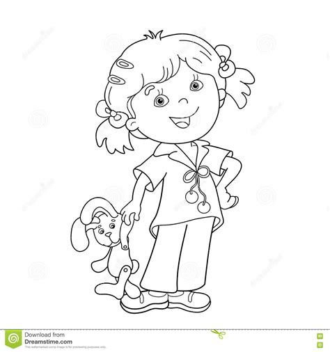 coloring page of a girl outline photos girl outline drawing art gallery