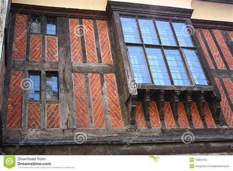 Tudor Style Windows brick tudor timber frame tower of london stock image