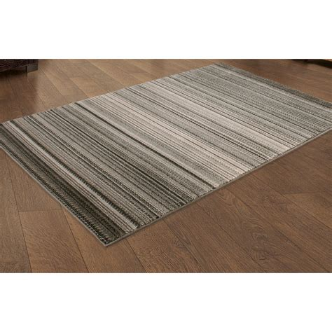 b m rugs b m grey stripe rug 150 x 210cm patterned rug large rug