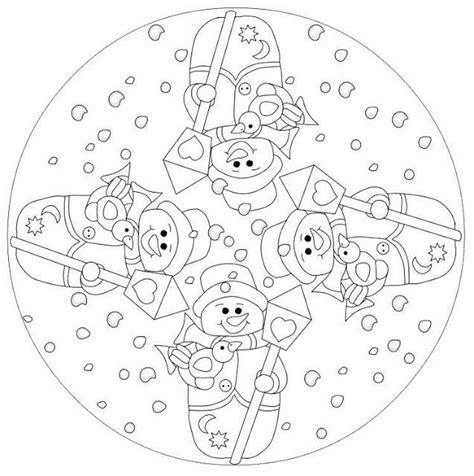 mandala coloring pages winter 22 best mevsimler images on mandalas mandala