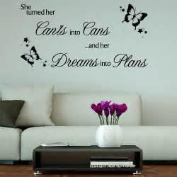 Motivational Wall Stickers She Turned Her Can Ts Into Cans Motivational Wall Sticker