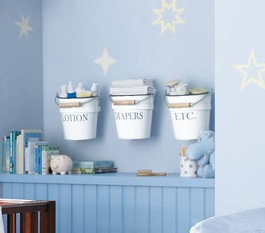 Baby Room Storage by Nursery Storage Ideas Make Your Own Baby Room Storage Buckets