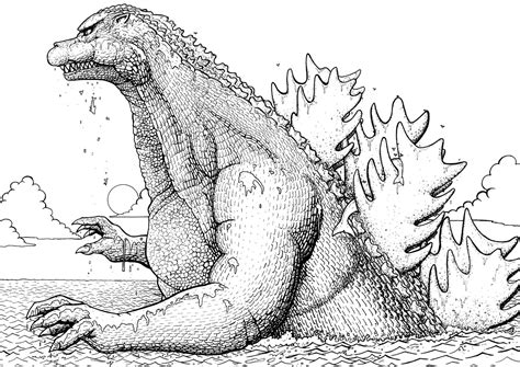 recreational break  godzilla coloring pages  pictures