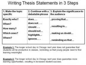 Thesis Support Essay by Thesis Statement On Ap Chemistry High School And Argumentative Writing