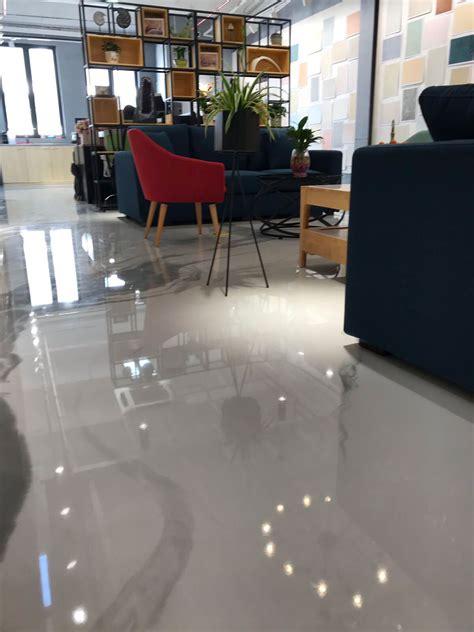pavimenti negozi pavimento in resina ambergreen in un negozio a pechino cina