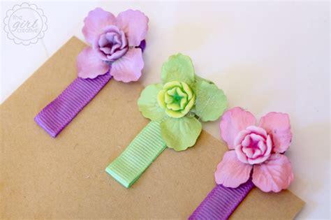 Handmade Hairclips - easy diy hair the creative