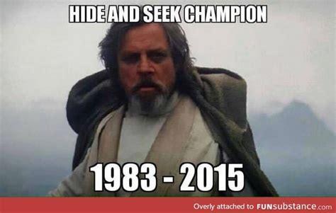Luke Meme - luke skywalker the hide and seek chion funsubstance