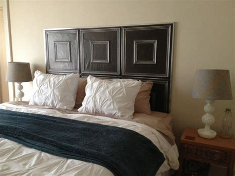 diy faux headboard tin ceiling tiles tin ceilings and ceiling tiles on