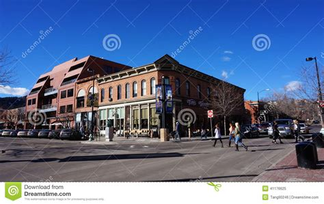 Of Colorado Boulder Part Time Mba by Downtown Areas Of Boulder Editorial Image Image 41176625