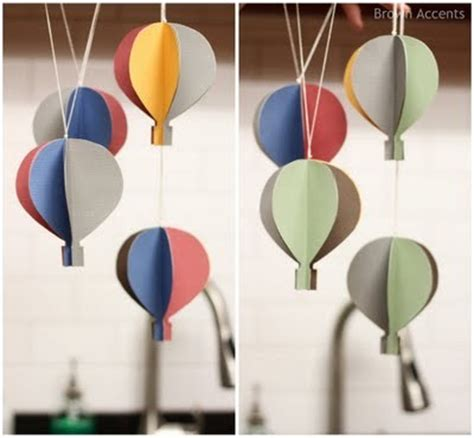 How Do You Make A Paper Balloon - folded paper 9 incredibly adorable air balloon craft