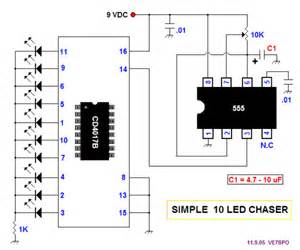 cd4017 and ne555 timer experiments build circuit